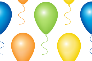 Balloons Seamless Pattern Background Labs