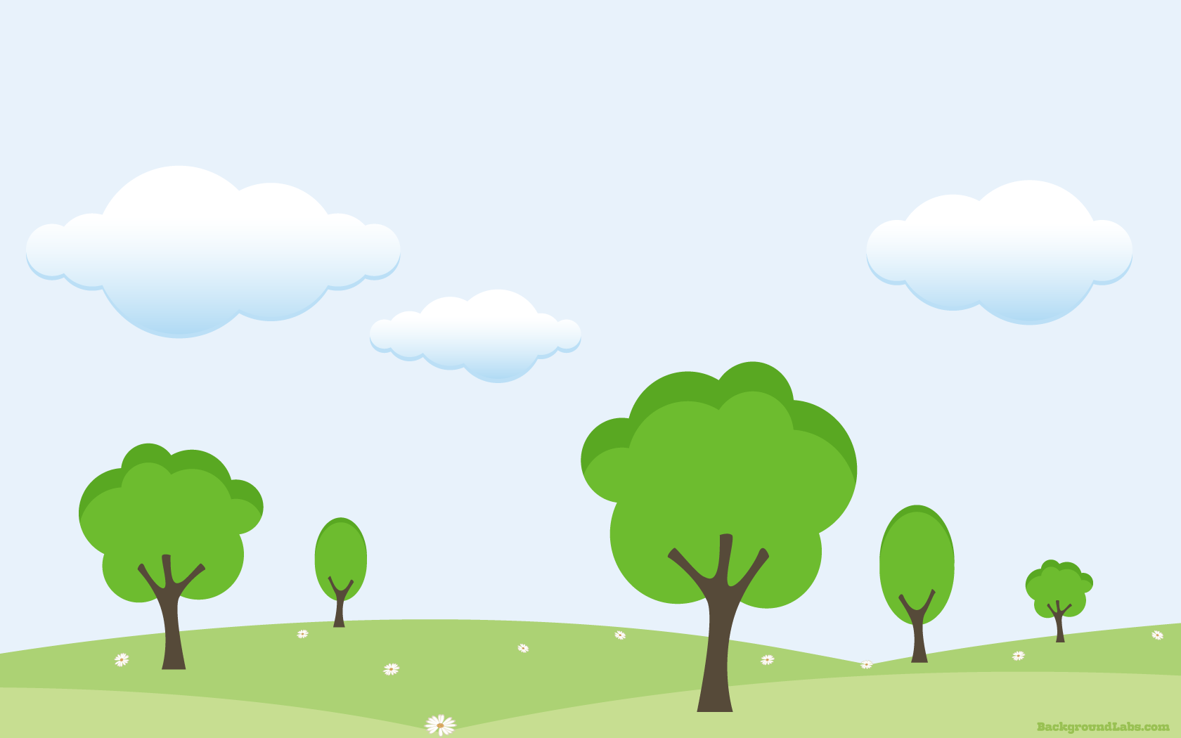 Hills And Trees Vector Background Background Labs