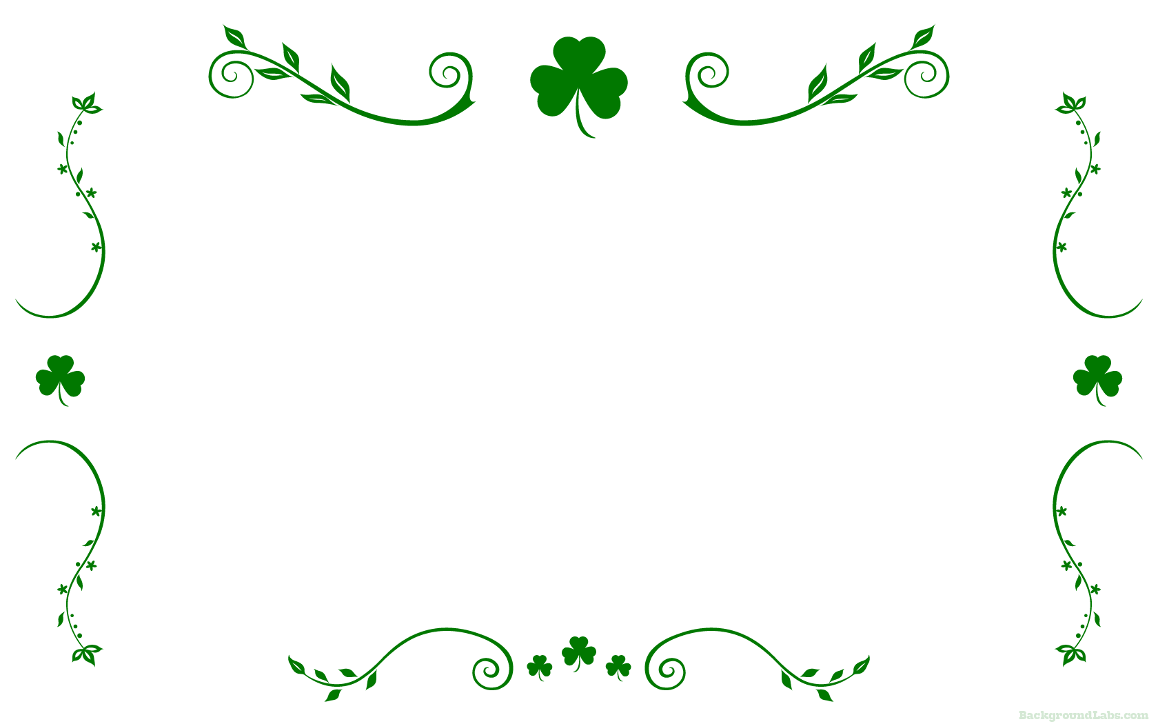 St Patricks Day Border Shamrocks Stock Illustration ... |St Patricks Border
