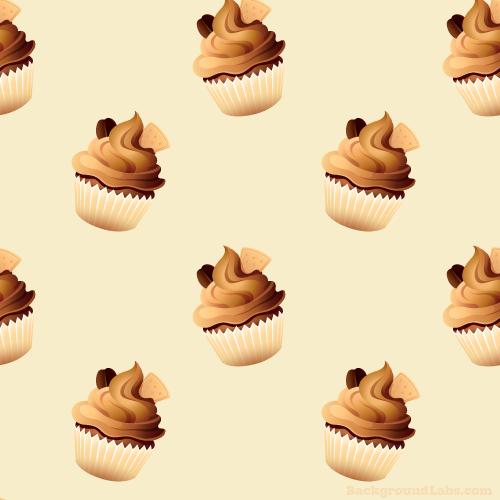 Coffee Cupcake Pattern