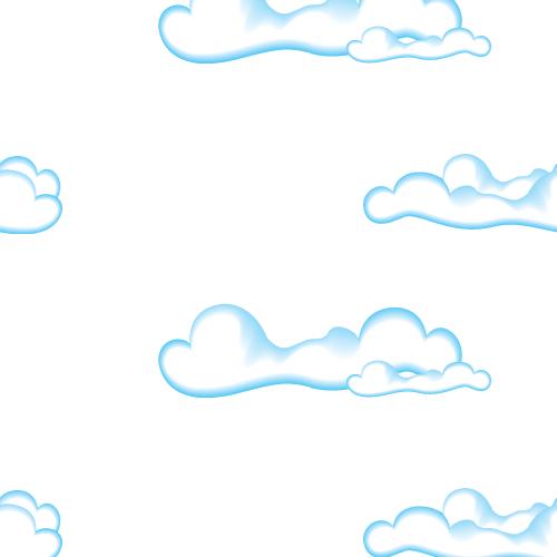 Cute Clouds Seamless Pattern