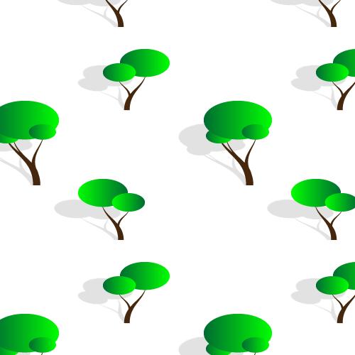 Cute Stylised Trees Pattern