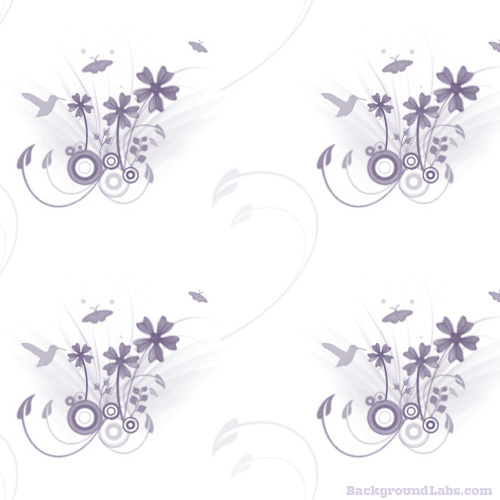 Floral Pattern With Hummingbirds