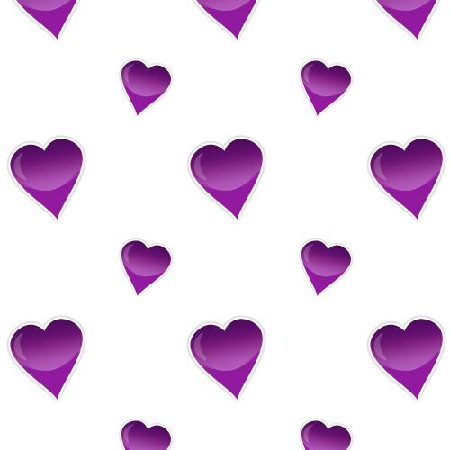 Glossy hearts purple