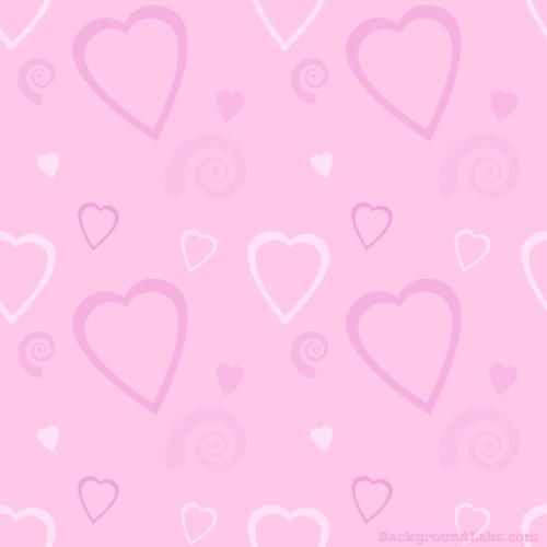 Hearts And Swirls Pattern