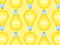 Light Bulbs Seamless Pattern