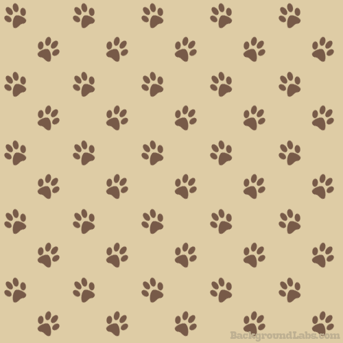 Seamless Paw Print Pattern