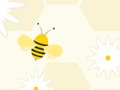 Seamless Flying Bees Background