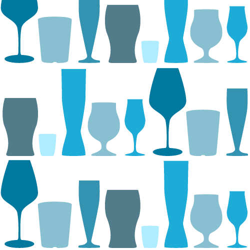 Alcohol Glasses Pattern