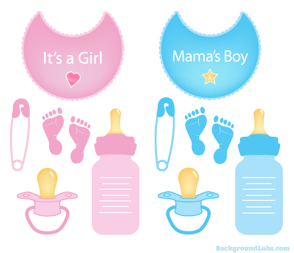 Free Baby Items Vector Set - Background Labs-9976