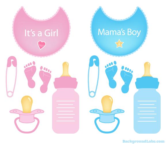 Baby Items Vector Set