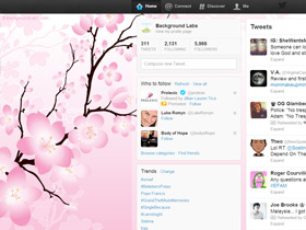 Cherry Blossom Twitter Background