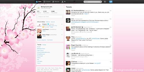 Cherry Blossom Twitter Background