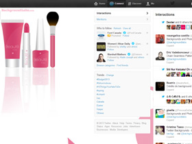 Cosmetic Products Twitter Background