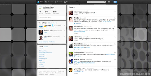 Dark Grid Twitter Background