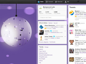 Disco Ball Twitter Background