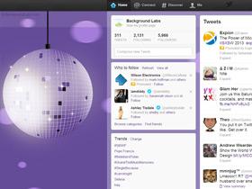 Disco Ball Twitter Background