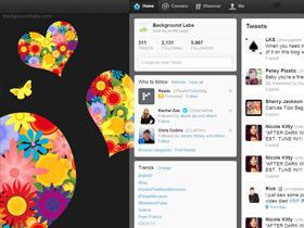 Fancy Hearts Twitter Background