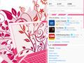 Girly Laptop Twitter Background
