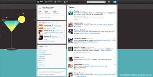 Martini Twitter Background
