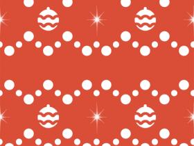 Retro Christmas Balls Pattern