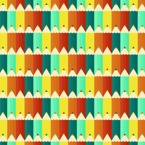 Seamless Pencils Pattern