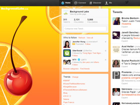 Tequila Sunrise Twitter Background
