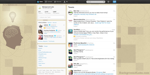 Working Brain Twitter Background