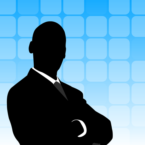 Businessman Silhouette Background