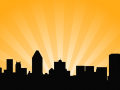 City Skyline Vector Background