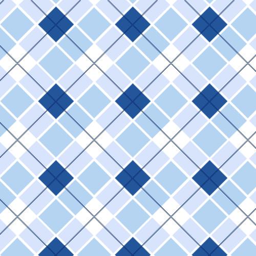Blue Plaid Pattern