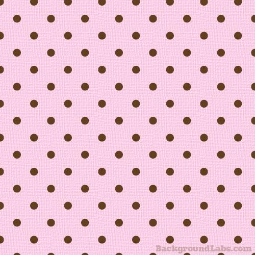 Chocolate & Pink Polka Dot