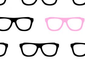 Geek Glasses Seamless Pattern