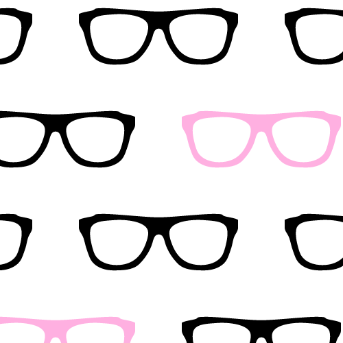 Geek Glasses Seamless Pattern