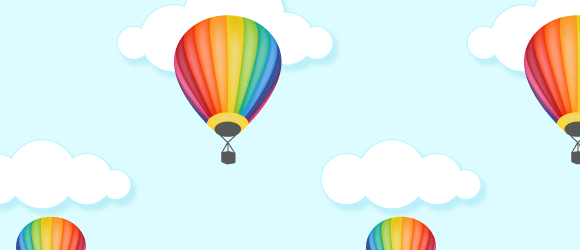 Hot Air Balloon Seamless Pattern