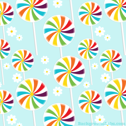 Lollipops Seamless Pattern
