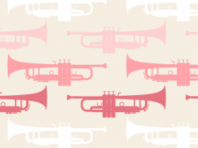 Music Pattern With Trumpet