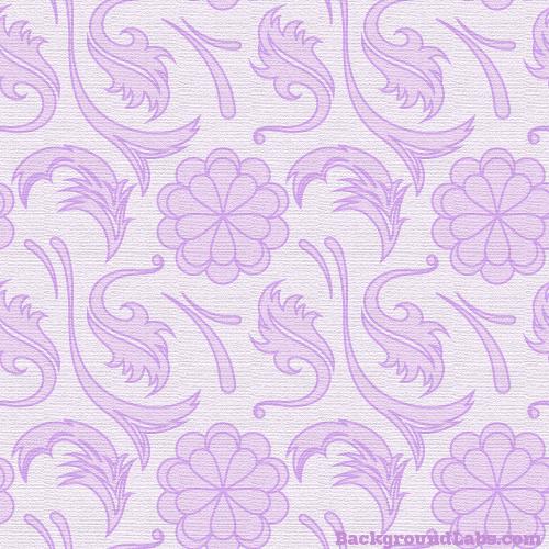 Purple Floral Seamless Pattern