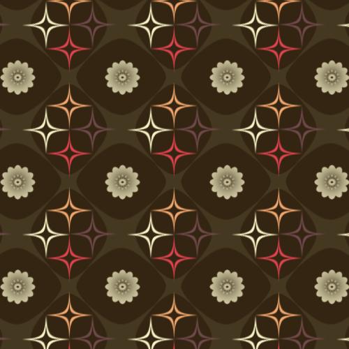 Retro Brown Flower Pattern
