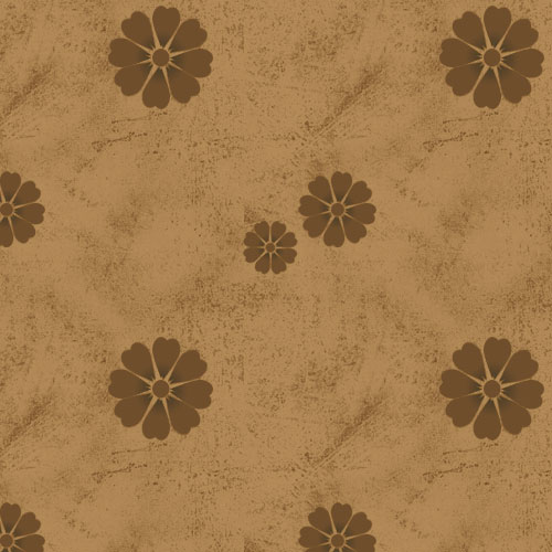 Seamless Grunge Floral Pattern