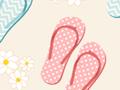 Seamless Pattern With Flip Flops