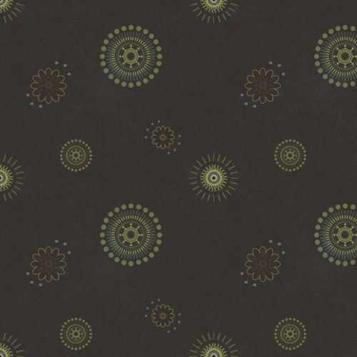 Seamless Pattern With Stylised Circles