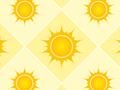Seamless Pattern With Sun