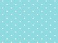 Turquoise Blue White Polka Dot