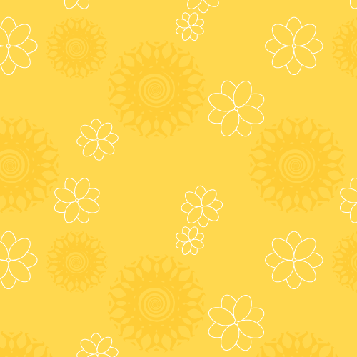 yellow floral pattern - photo #2