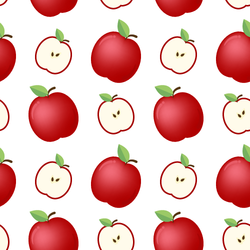 Apple Seamless Pattern - Background Labs