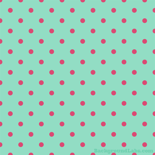 Pink and Mint Green Polka Dot