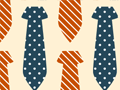 Seamless Pattern With Neckties