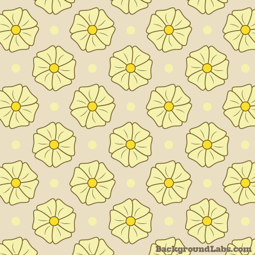 Retro Flowers and Polka Dot