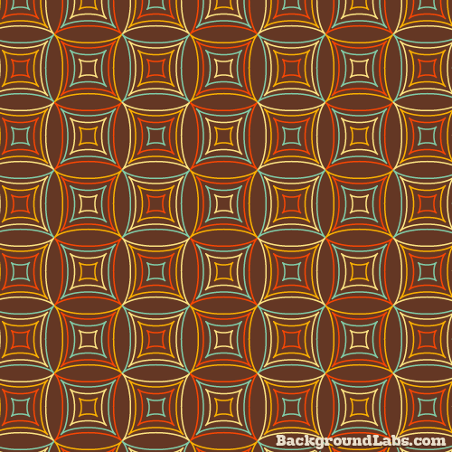 Retro Funky Squares Pattern